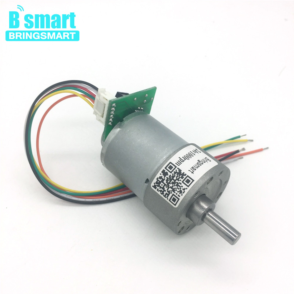 JGB37-3530A Photoelectric Encoder Motor 12-1600rpm Optical Encoder 12V 24V Gear Motor With Dc Motor Encoder DIY DC Gear Motor used faulhaber 1624t012s motor coreless gear motor dc servo motor with encoder