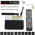 Nueva S912 CSA93 Android 6.0 TV Box Amlogic Quad Core 2 GB/16 GB 3 GB/32 GB KDOI Completo Cargado Complementos WIFI 4 K 1080 P Reproductor Multimedia Inteligente