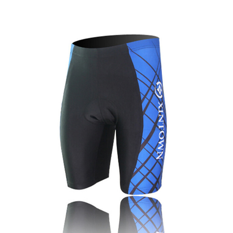 2019 New Blue Men Cycling Shorts Bike Bicycle 3D Silicone Padded Riding Shorts Pants S-4XL CC0195