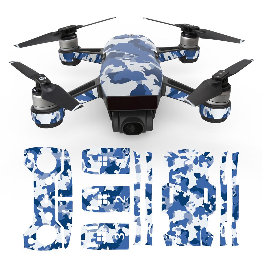 Aufkleber Sticker Deko Wasserfest Abdeckung für DJI Spark FPV Drone