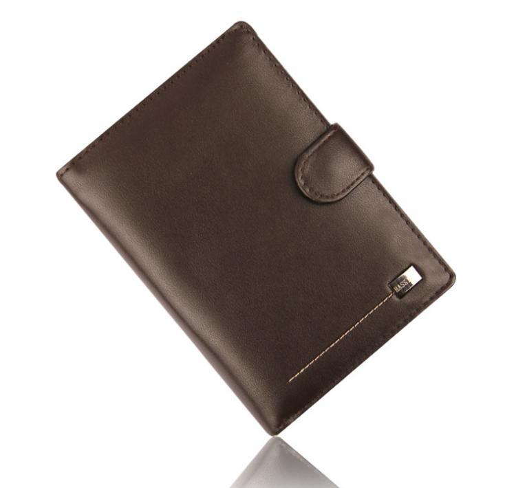 Fashion Hot Sale men's wallet New quality PU leather Middle Vertical black brown coin pocket card holder purse passport wallets