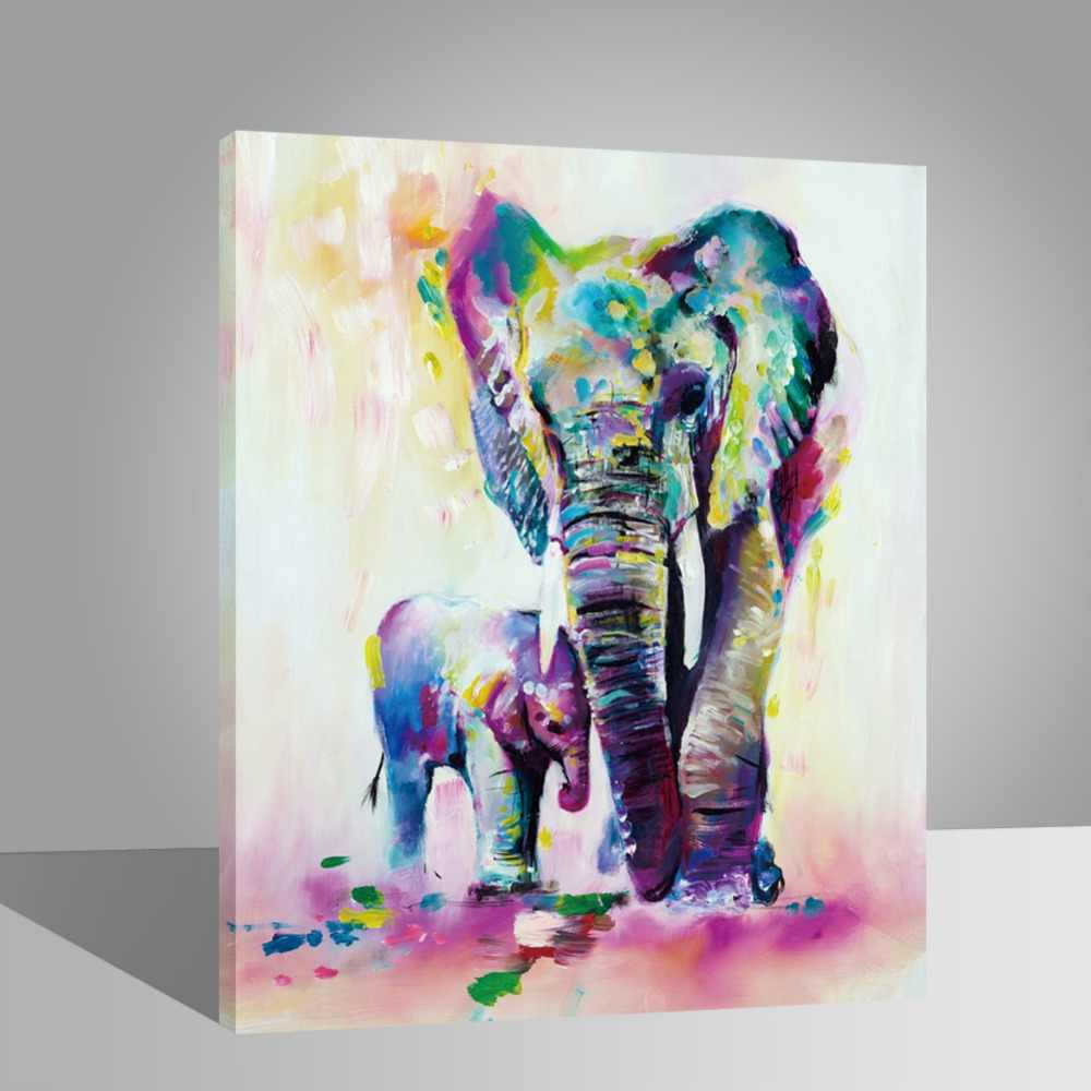 WEEN Elephant-Diy painting by numbers on canvas for adults and kids,wall art pictures,paint  by numbers kits for drawing 40x50cm