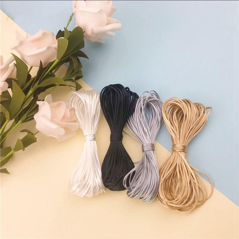 10 Meters Satin Silk Rope Nylon Cord  Making DIY Pacifier Clip Teething Necklace Baby Mom Jewelry Teether Accessories