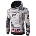 2016 New Arrival Men Hoodies Autumn Wear Pullovers Men Printing UK Flag Sweatshirt Top Quality Hoodies men Fashion Clothing