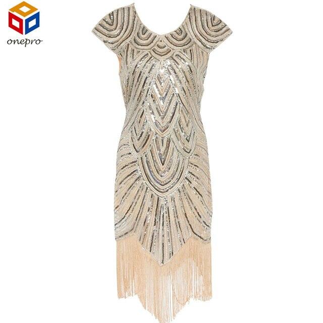 2017 Летом Старинные 1920 s Великий Гэтсби Хлопушки Блесток Fringe Партия Dress Plus Size Dress Женская Одежда Vestidos Де Fiesta