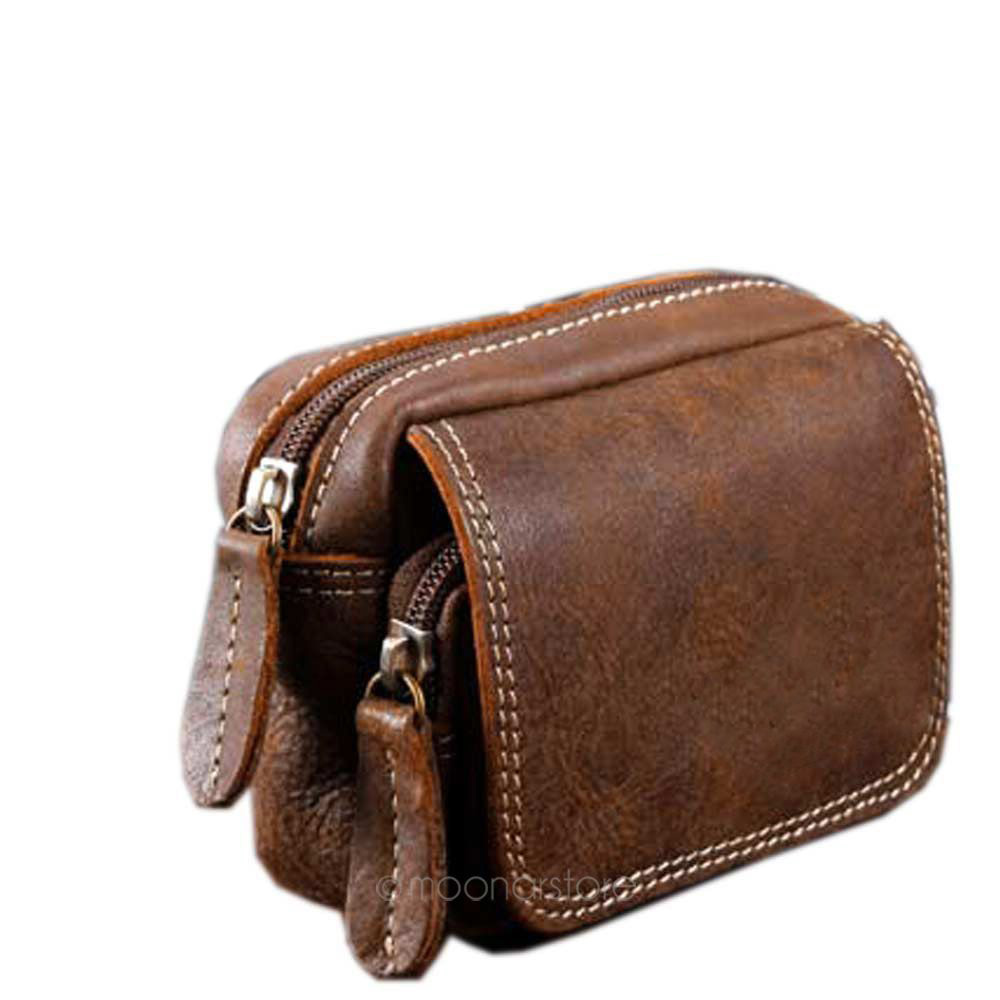cheap sale quality clear and distinctive High Quality Men Leather Pouch Phone Pocket Purse Wallet with Belt Fanny  Waist Pack Bags