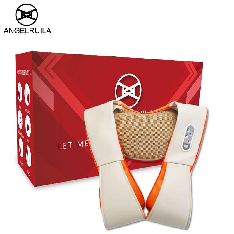 Бесплатный подарок! Angelruila u-образный Домашний Массажер Для Шеи Электрический шиацу для ног массажеры для тела 3D Beat Massagem плоский ЕС штекер