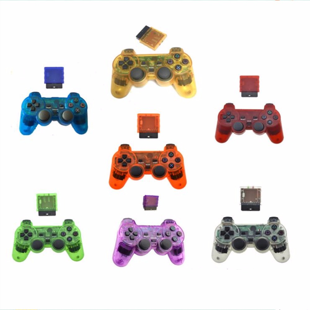 2.4G wireless game controller gamepad joystick for PS2 console playstation 2 Vibration video gaming play station for Sony joypad wired usb 2 0 black gamepad joystick joypad game controller for pc laptop for raspberry pi 3 for ps3 for sony playstation