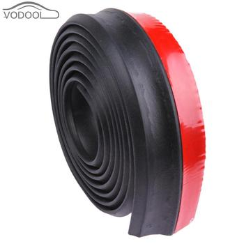 2.5m Car Front Bumper Lip Splitter Body Spoiler Skirt Rubber Protector Foam Auto Styling Moulding Trim Tape Chin Valance Chin image
