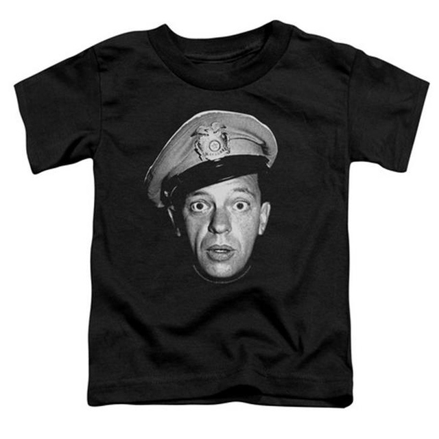 Trevco Andy Griffith-Barney Head – Short Sleeve Toddler Tee – Black Large 4T