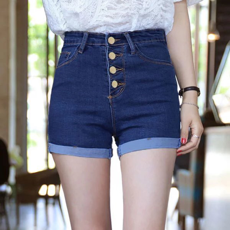 Summer New Arrival Womens Denim Shorts Female Fashion <font><b>Sexy</b></font> High Waist Jeans Shorts <font><b>Girls</b></font> Plus Size <font><b>Hot</b></font> Shorts <font><b>XXL</b></font> Mini Shorts image