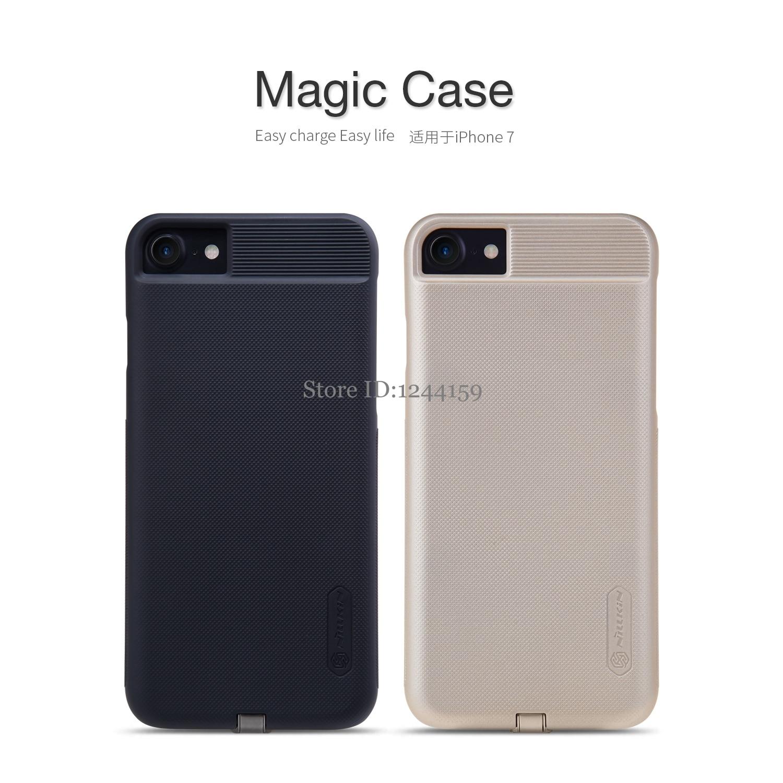 imágenes para Nillkin Delgado Qi Receptor de Carga Inalámbrica Inteligente para iPhone 7 7 Plus Cargador Cubierta de la Caja Mágica para Apple iPhone7 7 más casos