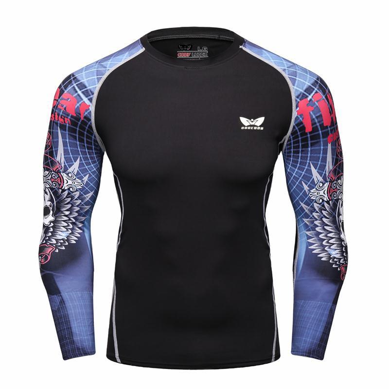 T-shirt 2017 Neue Männer Gedruckt Camouflage Herbst Mode Mann Camo Fitness Langarm Armee Grün T-shirt Mode Tees