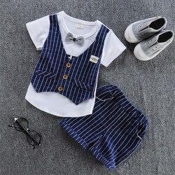 Bibicola meninos do bebê roupas de verão set-manga curta T shirt + shorts 2 peças conjunto de roupas casuais de algodão nova estilo meninos roupas