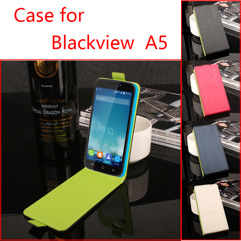 HongBaiwei Phone Cases For Blackview A5 Fashion Hit Color Flip PU Leather Case Cover For Blackview A5 Card Slot