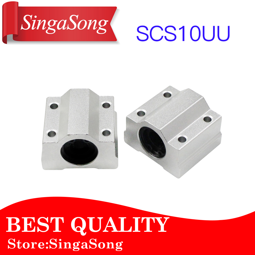 Free Shipping 4pcs SC10UU SCS10UU Linear motion ball bearings slide block bushing for 10mm linear shaft guide rail CNC parts 2pcs lm10luu long type 10mm linear motion ball bearing slide bushing for diy cnc parts for 10mm linear shaft