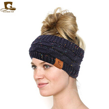 New women Knit Wool Crochet Twist Headband Elastic Hair Band for Women Winter Ear Warmer Turban Headwrap Wide Accessories