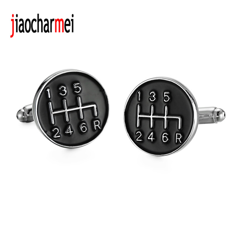 High quality French male suit brand new fashion boutique Cufflinks black car stalls cufflinks, 12 pairs of wholesale sales