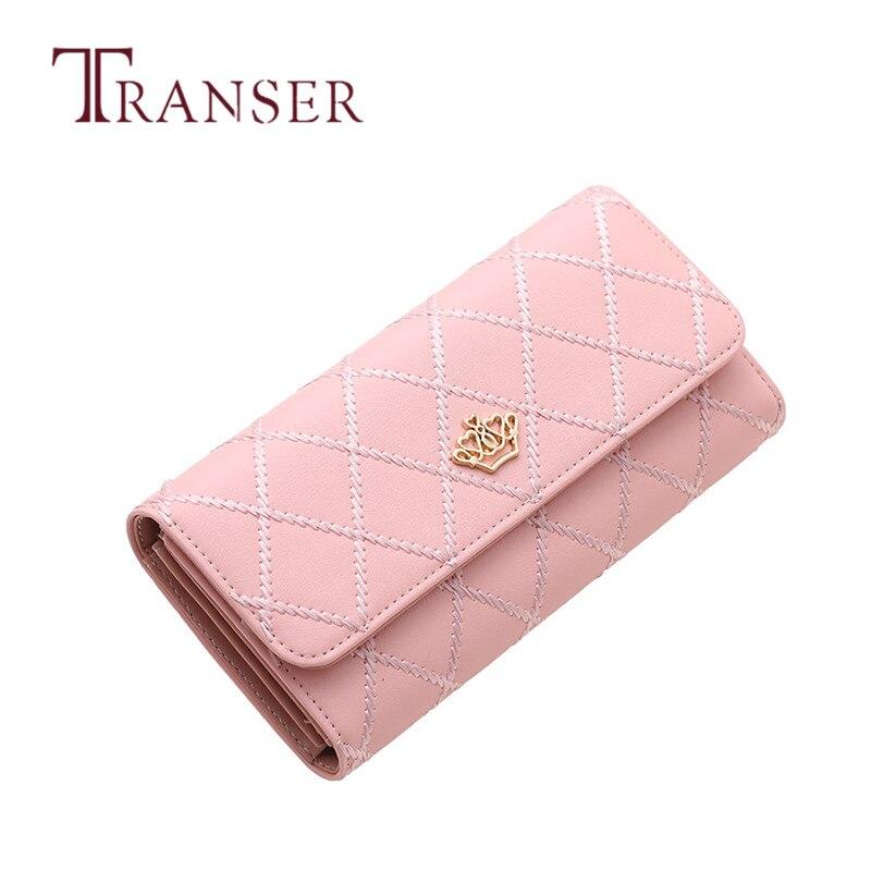 TRANSER Lady Women Clutch Long Purse Leather Wallet Card Holder Handbag Bags Slim High Quality Fahion Famous Designer Long Sep29