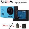 Original sjcam sj4000 câmera de ação esporte câmera à prova d' água full hd 1080 p 30fps ir pro estilo + extra 1 pcs bateria + carregador + monopé