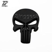 Buy sticker skull black and get free shipping on aliexpress zd car styling black metal skull car sticker for vw polo passat b5 b6 mazda 3 6 cx 5 publicscrutiny Gallery