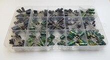 15Values Total 300pcs 16V 50V 0.1uf 0.22uf 0.47uf 1uf 2.2uf 3.3uf 4.7uf 10uf 22uf 33uf 47uf aluminum electrolytic capacitor kit