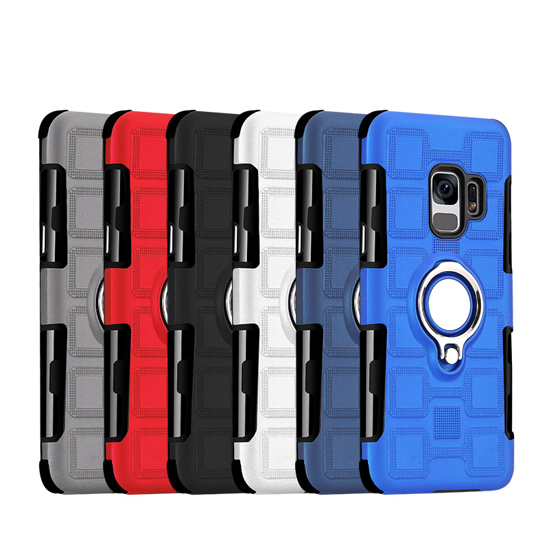 NTSPACE Magnetic Holder Stand Cover Cases for Samsung Galaxy Note 9 S9 Plus S8 Plus Note 8 Finger Ring Bracket Anti drop Case in Fitted Cases from Cellphones Telecommunications
