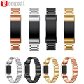4 Color Luxury Stainless Steel Watchband For Fitbit Charge 2 Smart Wristwatch Replacement Bracelet Strap Watch Band With Adapter
