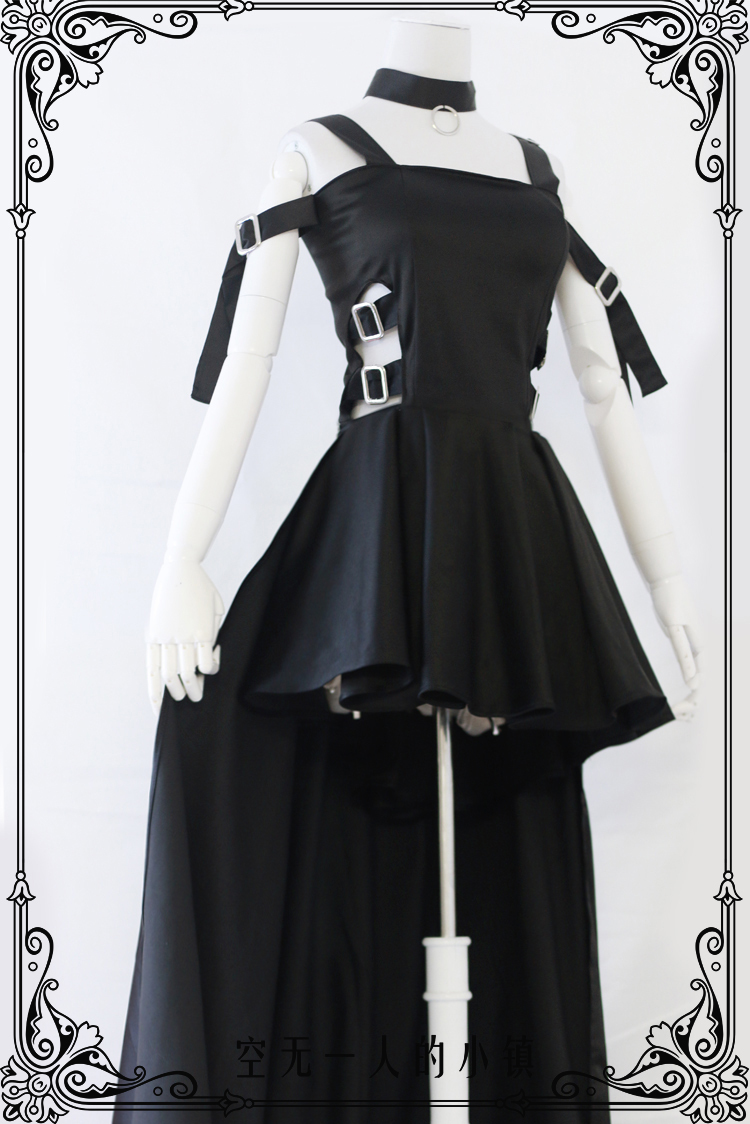 CHOBITS Freya Party Lolita Full Black Dress Cosplay Anime Costume Custom  made Any Size NEW-in Anime Costumes from Novelty   Special Use on  Aliexpress.com ... a28d5db53182