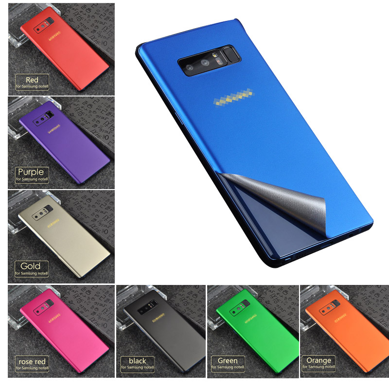 New Skin <font><b>Sticker</b></font> For Samsung Note8 9 Full Body Color <font><b>Sticker</b></font> Wrap skin Case Cover For Samsung <font><b>S10</b></font> S8 S9 Plus Ice Film Case image