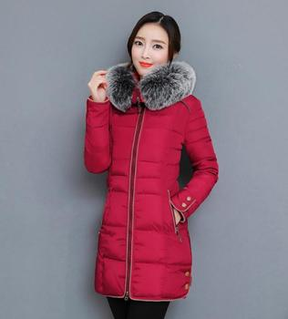 2018 The new Korean version of the long version of the thickening body, large wool collar cotton clothes NN1709.