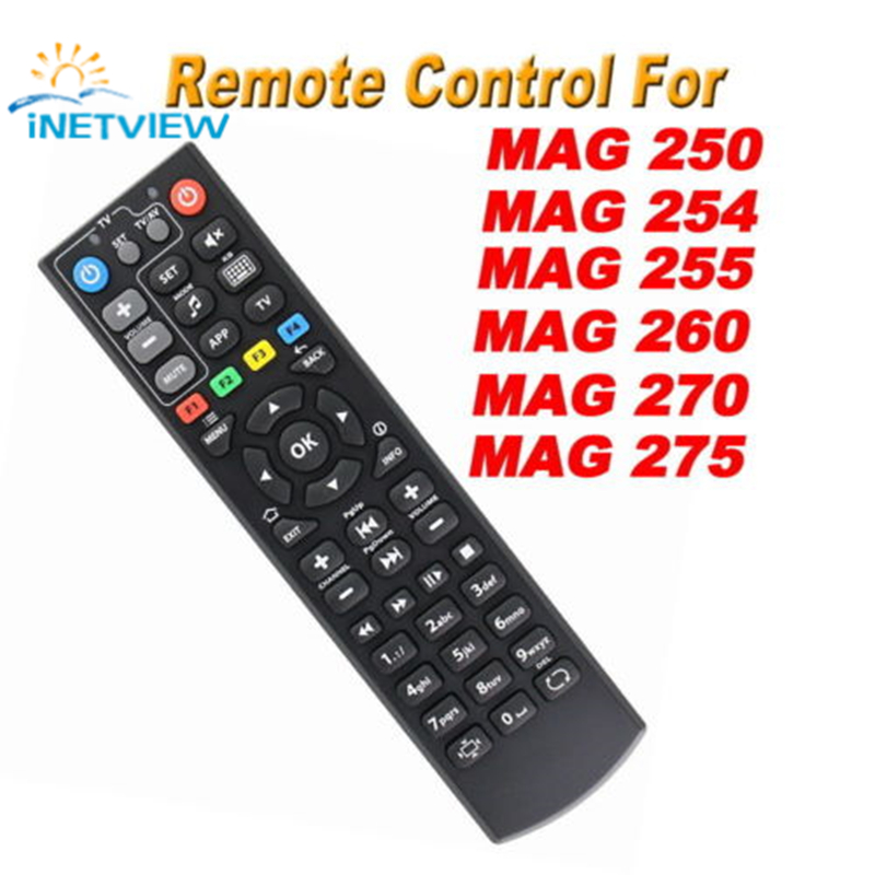 10pcs Black Color Replacement mag 250 Remote Control For mag250 254 255 256 257 270 275