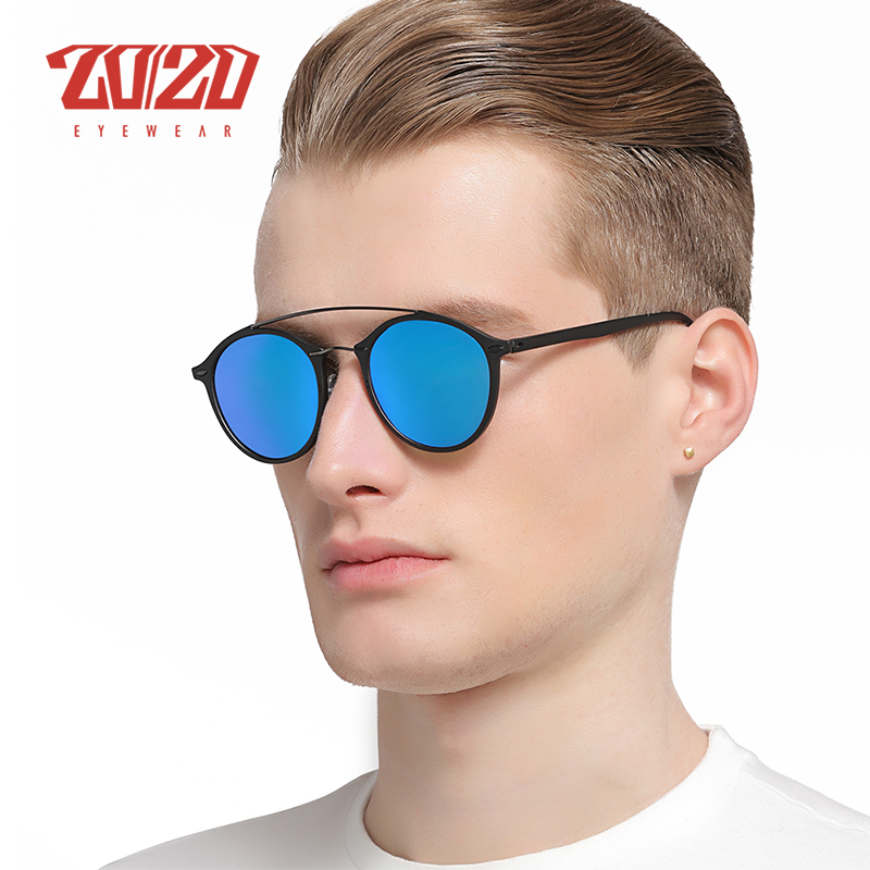 20/20 Brand Men Retro Polarized Sunglasses Women Classic Brand Designer Unisex Sunglasses Double Beams Glasses 3