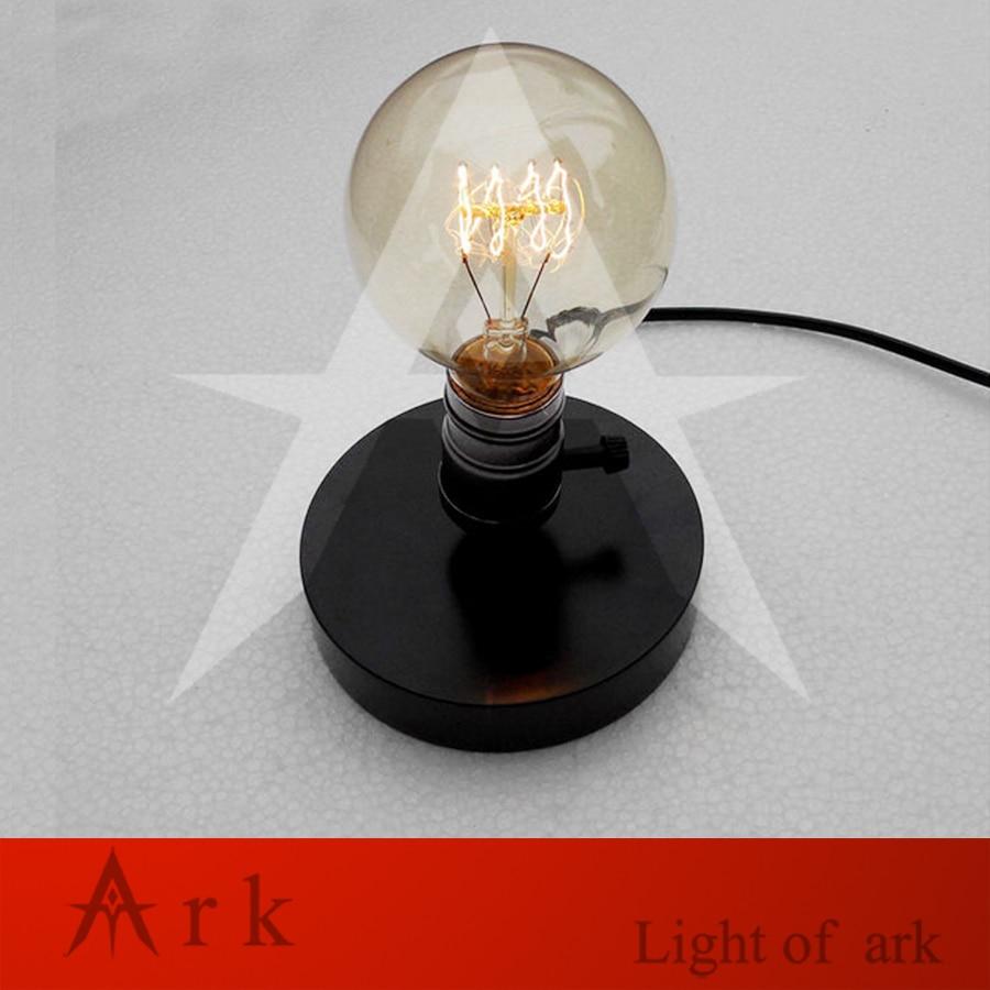 E26 E27 Industrielle Vintage Edison En Bois Base Socket Lampe De Bureau Table en bois Lampe de Lecture (contient Pas l'ampoule)