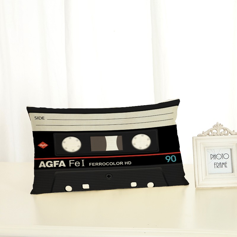 Personalized Magnetic Tape Cushion Covers Fashion Creativity Home decoration 30x50 Decorative Beige Linen Pillow Case in Cushion Cover from Home Garden