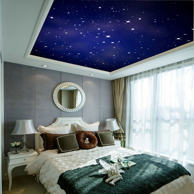 ... Custom Large Photo Wallpaper Romantic Starry Night Wall Mural Nature  Landscape Art Wall Painting Kid Room ... Part 62