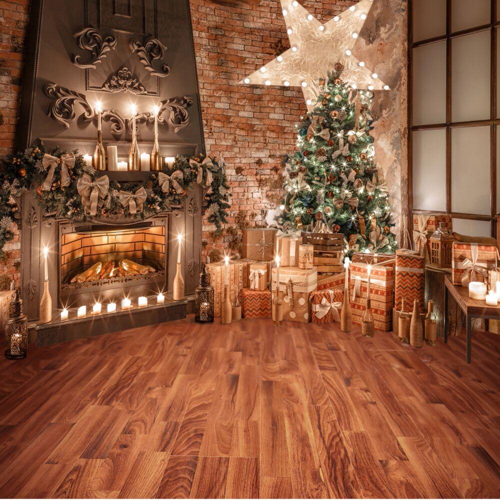 AMERICAN GIRL DOLL BRAND COZY CHRISTMAS TREE FIREPLACE DISPLAY SCENE BACKDROP