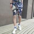 2016 летний стиль мужские религия 3D набивным рисунком шорты хлопок цветок колен шорты для мужчин спортивная короткие брюки
