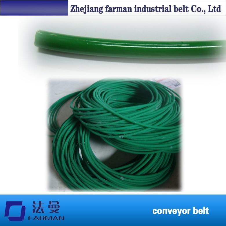 PU polyurethane transmission belt / pu rough belt / polyurethane round belt цена 2017
