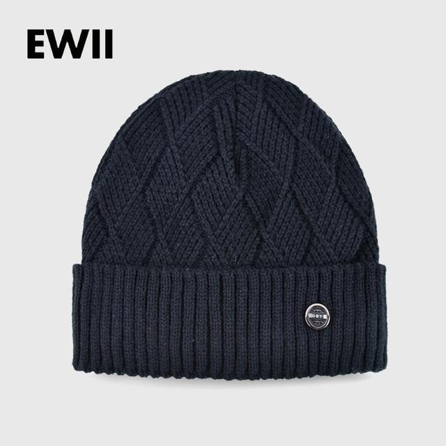 2017 de Malha de lã chapéus para homens chapéu de inverno menino beanie caps  osso homens 260c9e825f5