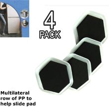Mayitr 4pcs Heavy Duty Furniture Moving Pad Sofa Cushion Sliders Pad  Protectors Floor Wood Carpet PP