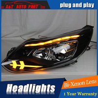 Car Styling For Ford Focus Headlights U Angel Eyes DRL 2009 2012 ForFord Focus LED Light
