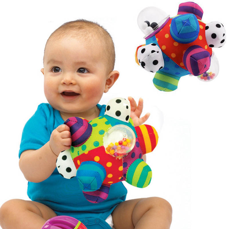 LAIMALA Plush Soft Rattles Bell Baby Boys Girls Toys Kid