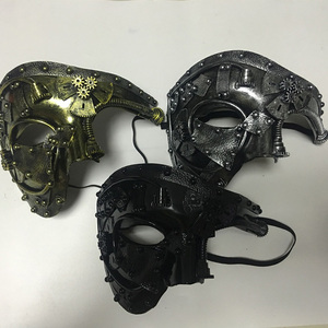 Image 4 - Steampunk  Phantom Masquerade Cosplay Mask Ball Half Face Men Punk Costume Halloween Party Costume Props