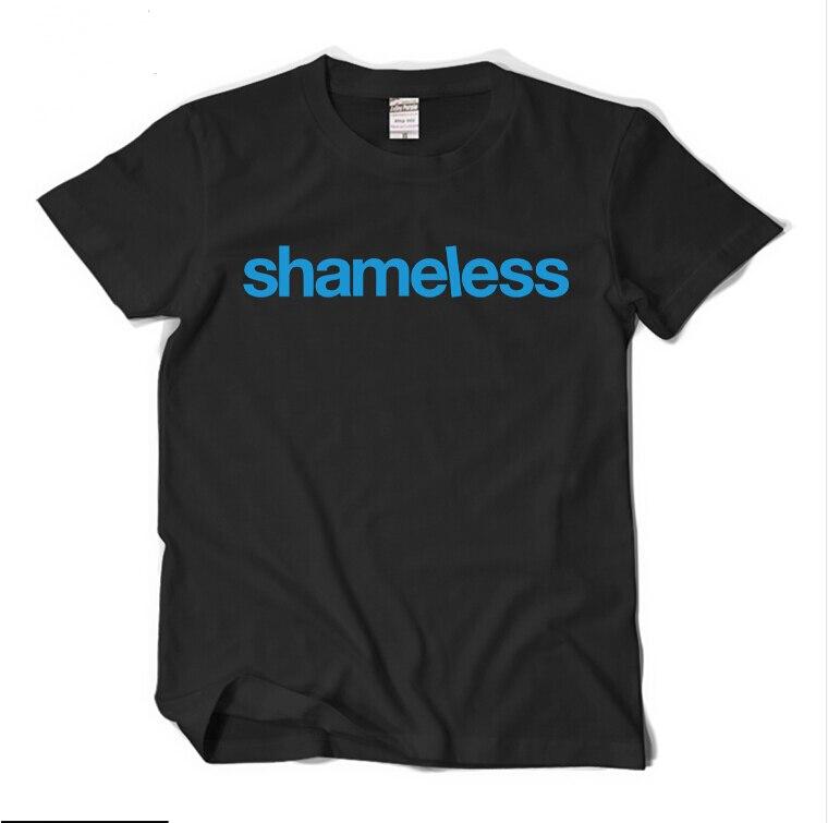 TV Show Shameless T Shirt Adult Men's T-Shirt Short Sleeve Summer Cotton O-neck Black Shirt