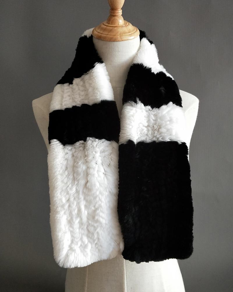 Natural Fur Scarf Women Winter Real Rex Rabbit fur Scarves cachecol bufandas New arrival muffler thermal Soft (2)