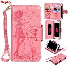 Чехол для мобильного телефона Nephy, мягкий кожаный чехол для iPhone 6 s 6 S 7 8 Plus X 10 5 5S SE 5SE 6Plus 6 s Plus 7Plus 8 Plus