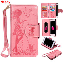 Nephy 革ソフトケース iphone 6 s 6 S 7 8 プラス X 10 5 5 S 、 SE 5SE 6 プラス 6 S plus 7 プラス 8 女の子高級財布携帯電話カバー