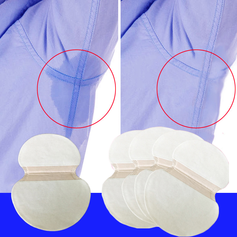 10pcs Summer Deodorants Pads Underarm Armpit Sweat Pads Dress Disposable Sweat Shield Guard Absorbing Perspiration Sweating Pads