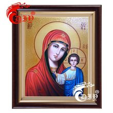 New 5D Diy Diamond Painting Religion Kazan Icon of our Lady Diamond Mosaic Handicraft Needlework Crafts Embroidery Cross Stitch(China)